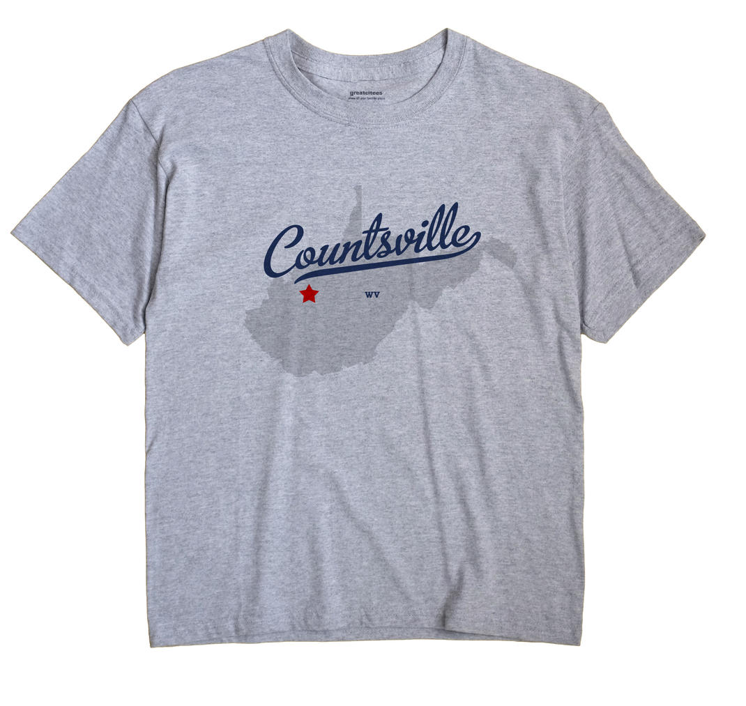Countsville, West Virginia WV Souvenir Shirt