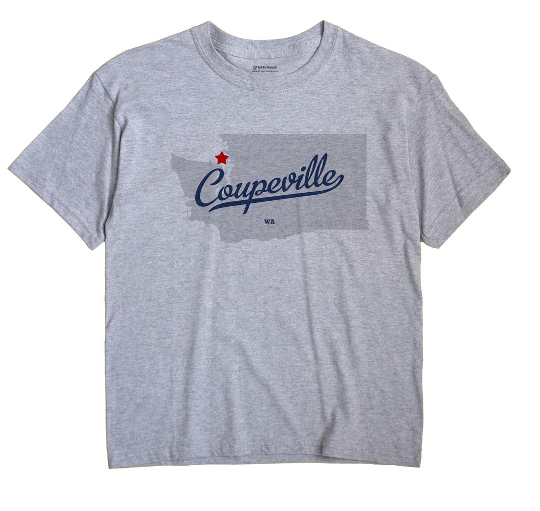 Coupeville Washington WA T Shirt METRO WHITE Hometown Souvenir