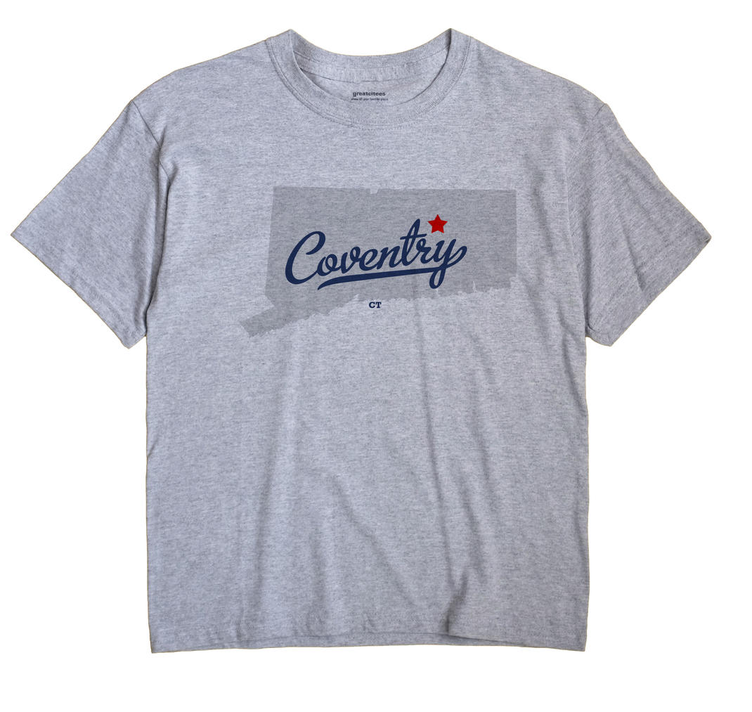 Coventry Connecticut CT T Shirt METRO WHITE Hometown Souvenir
