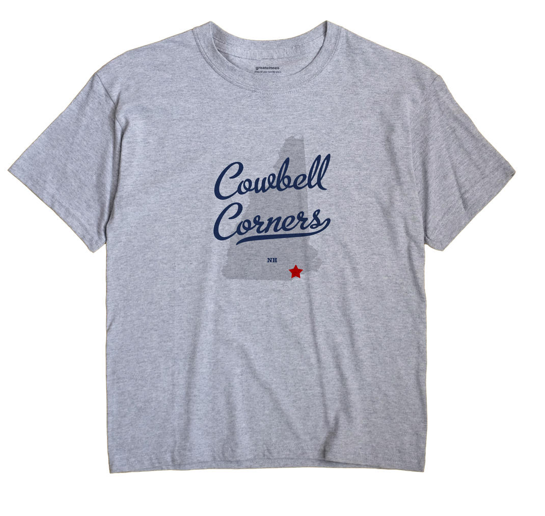 Cowbell Corners, New Hampshire NH Souvenir Shirt