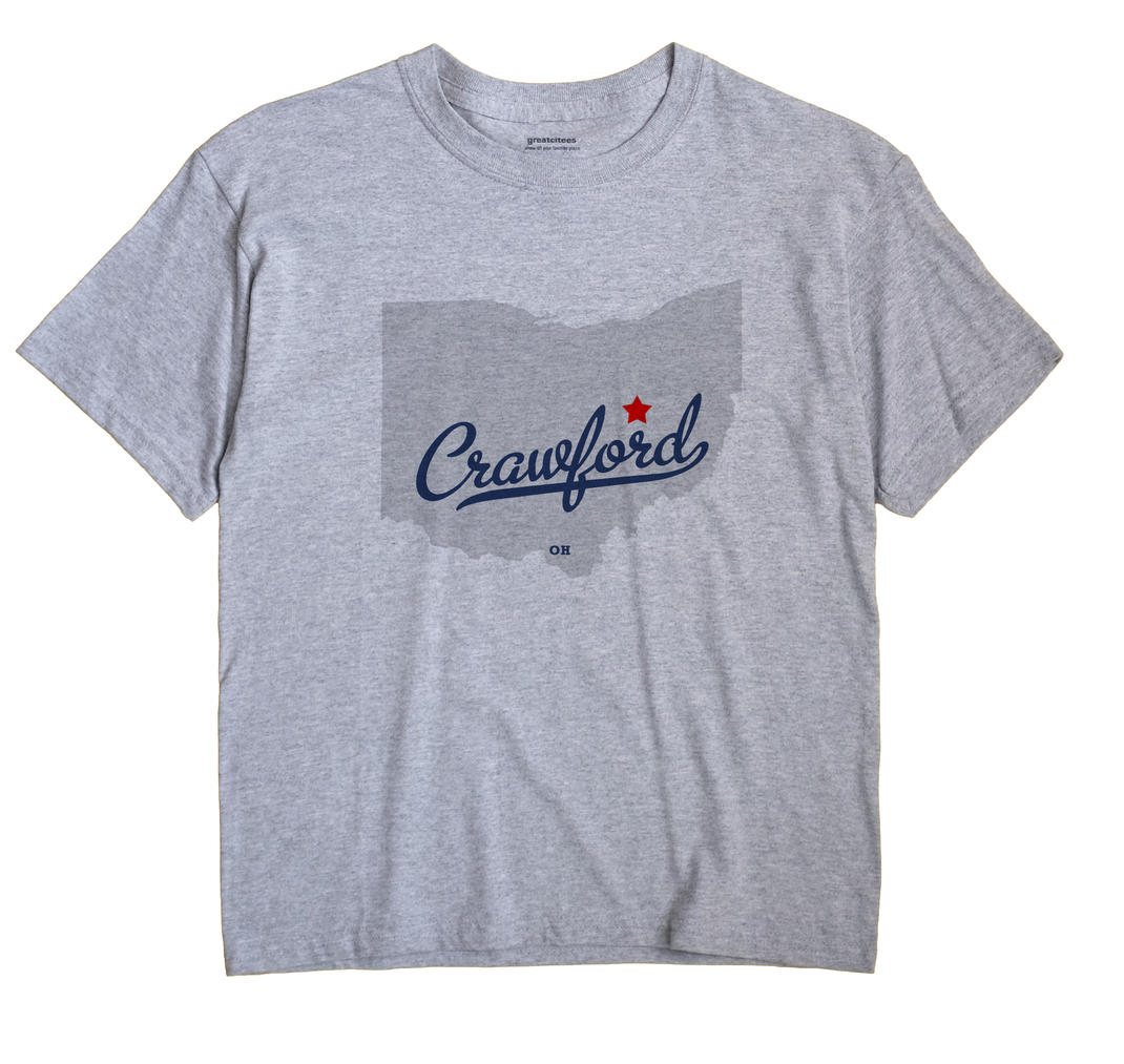 Crawford, Coshocton County, Ohio OH Souvenir Shirt