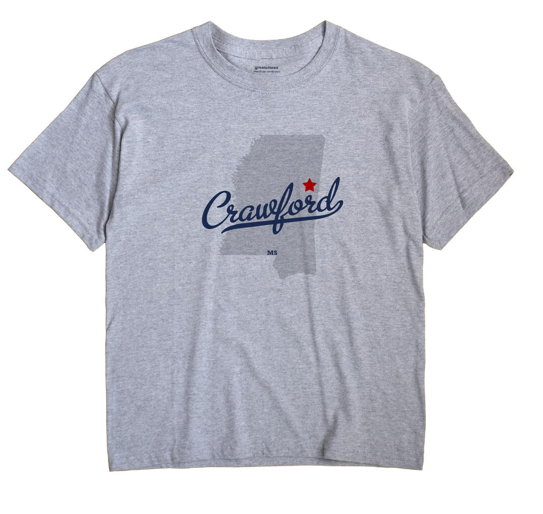 Crawford, Mississippi MS Souvenir Shirt