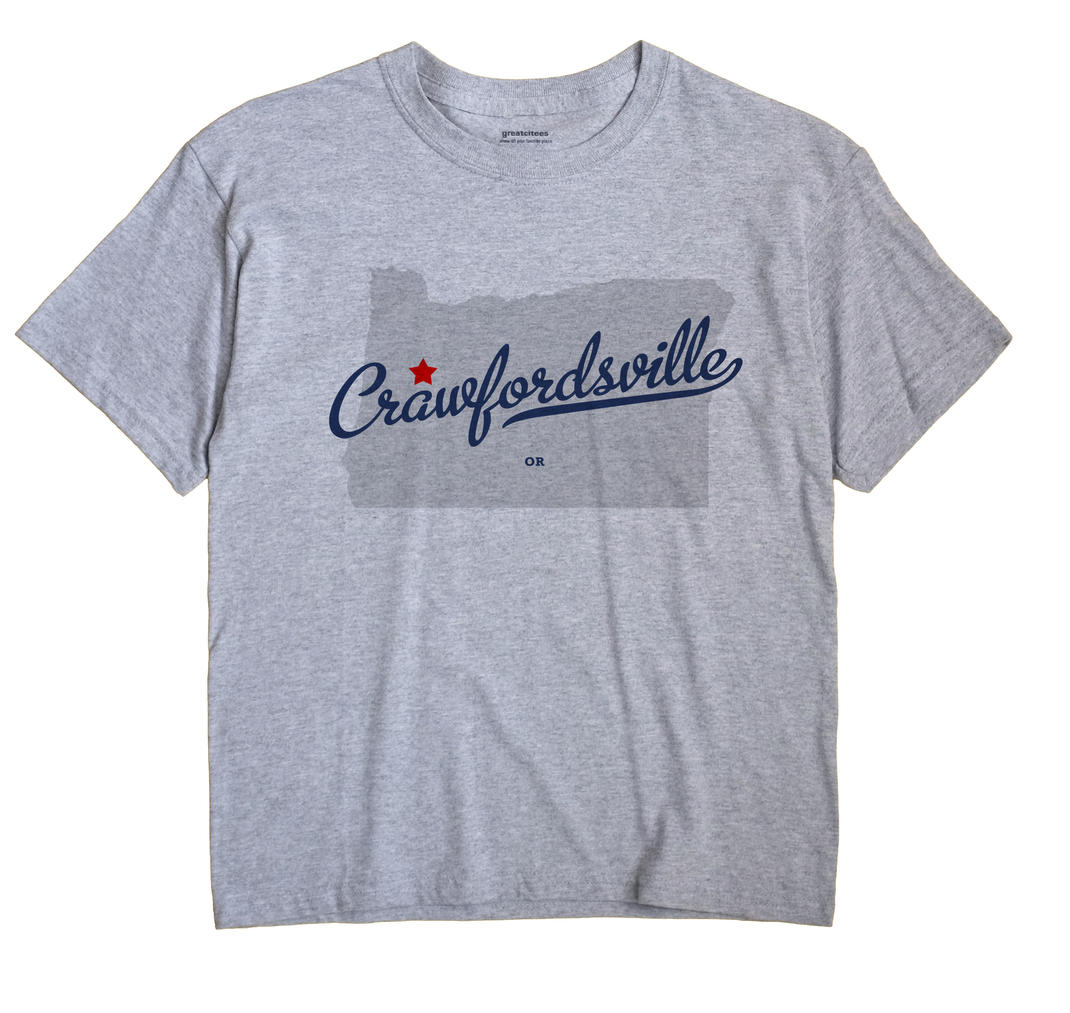 Crawfordsville, Oregon OR Souvenir Shirt