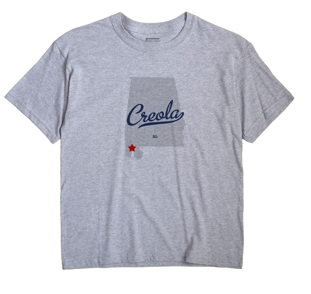 Creola Alabama AL T Shirt AMOEBA WHITE Hometown Souvenir
