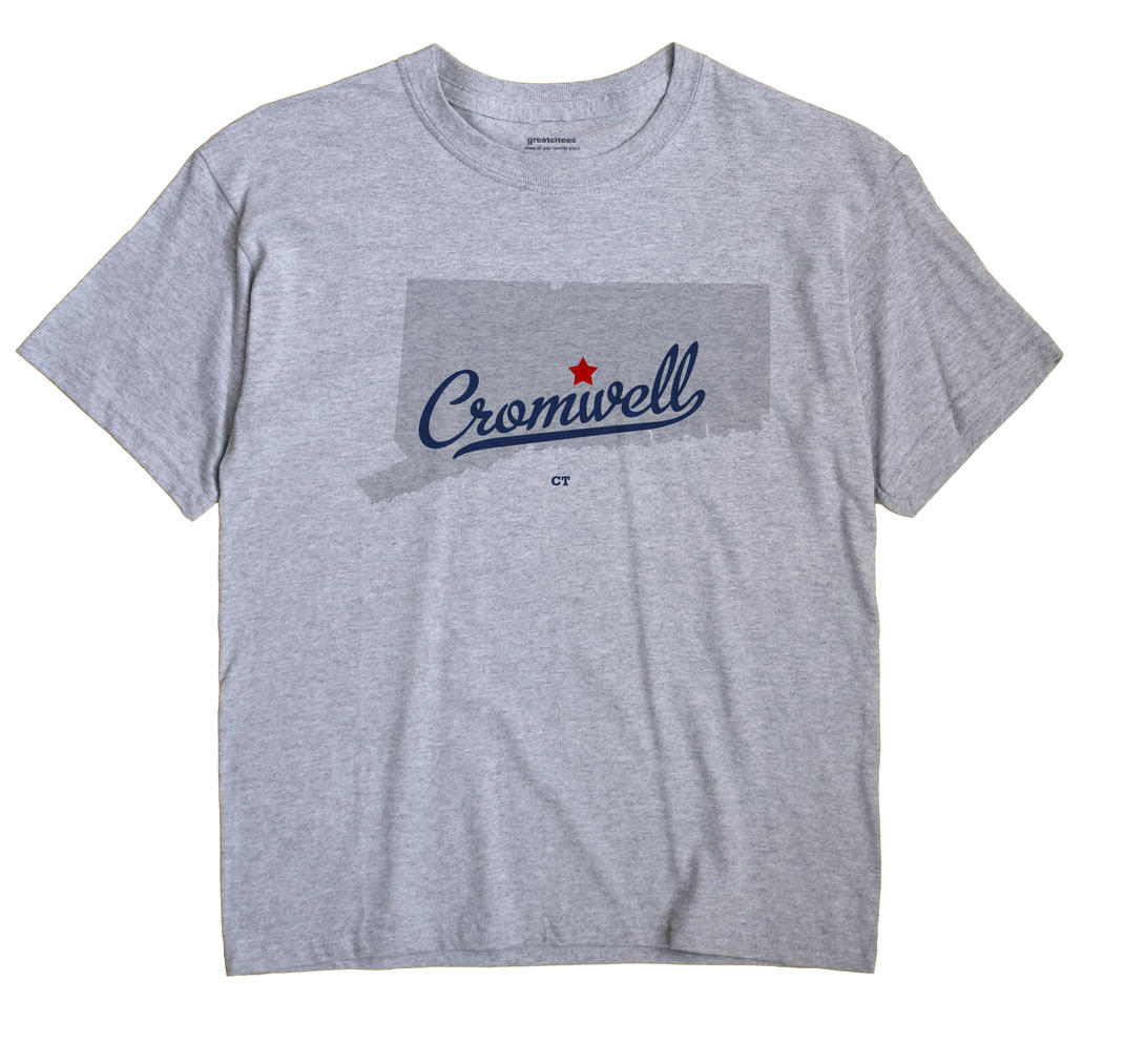 Cromwell Connecticut CT T Shirt METRO WHITE Hometown Souvenir
