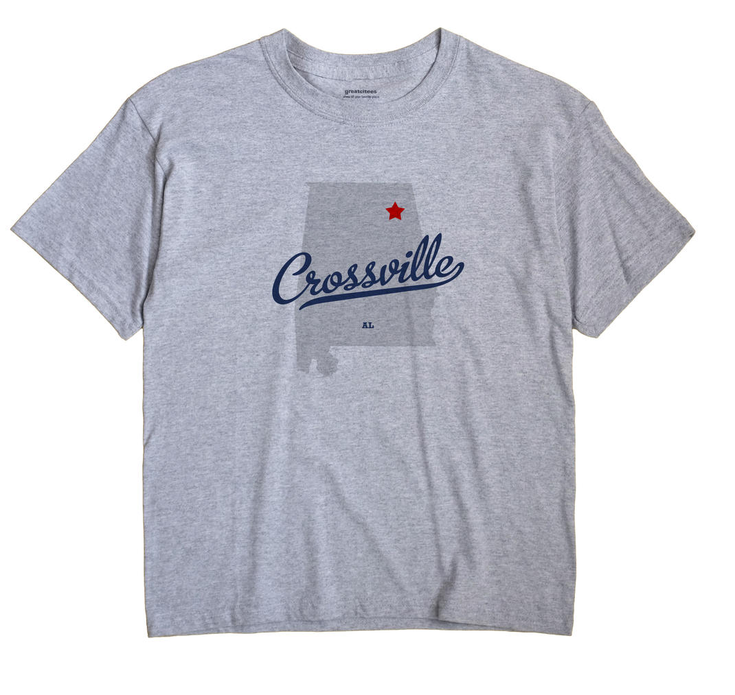 Crossville Alabama AL T Shirt METRO WHITE Hometown Souvenir
