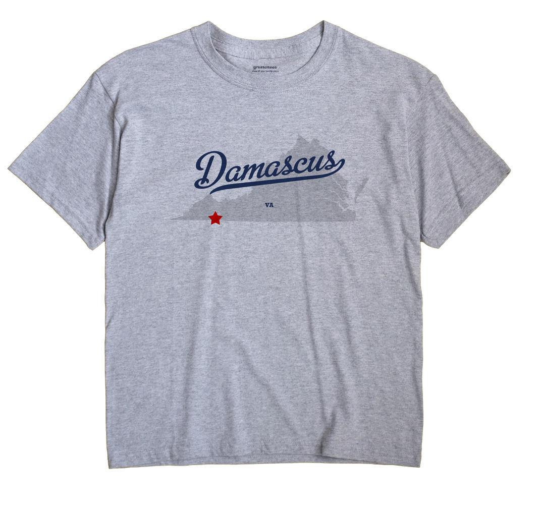 Damascus Virginia VA T Shirt METRO WHITE Hometown Souvenir