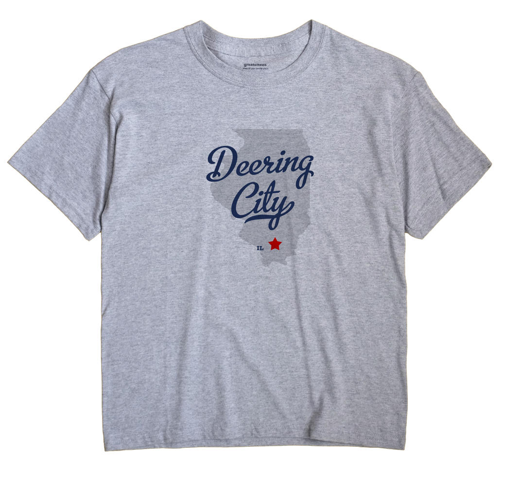 Deering City, Illinois IL Souvenir Shirt