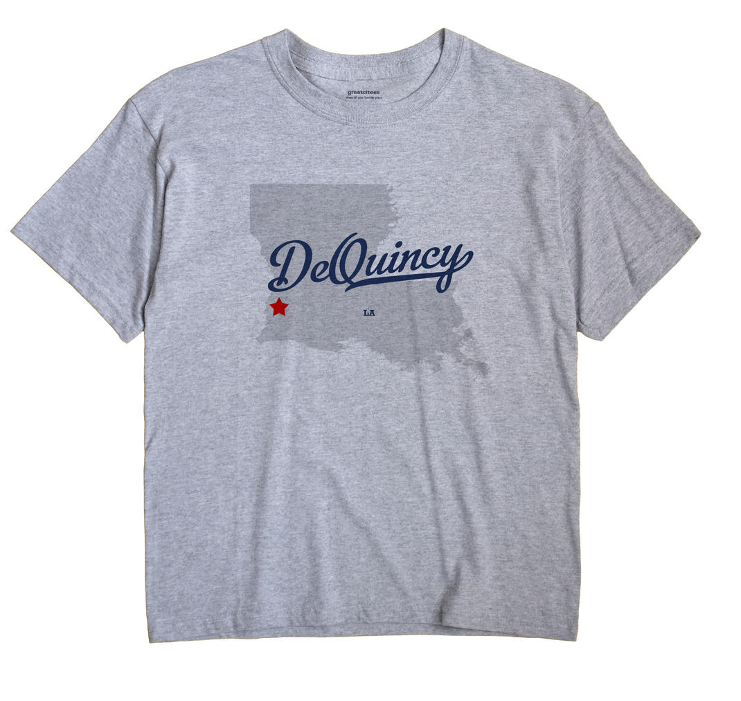Dequincy Louisiana LA T Shirt METRO WHITE Hometown Souvenir