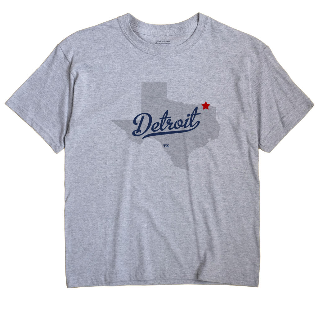Detroit, Texas TX Souvenir Shirt