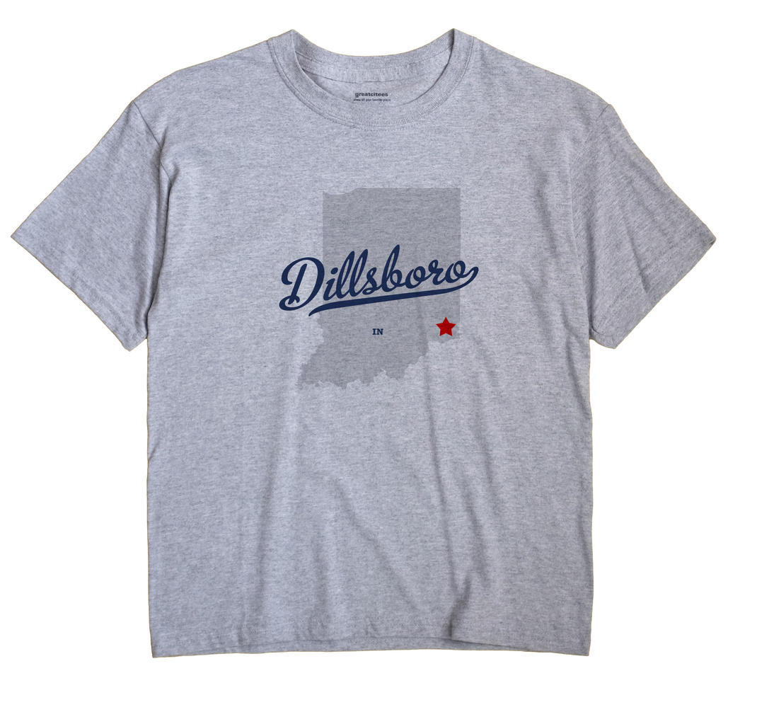 Dillsboro Indiana IN T Shirt METRO WHITE Hometown Souvenir
