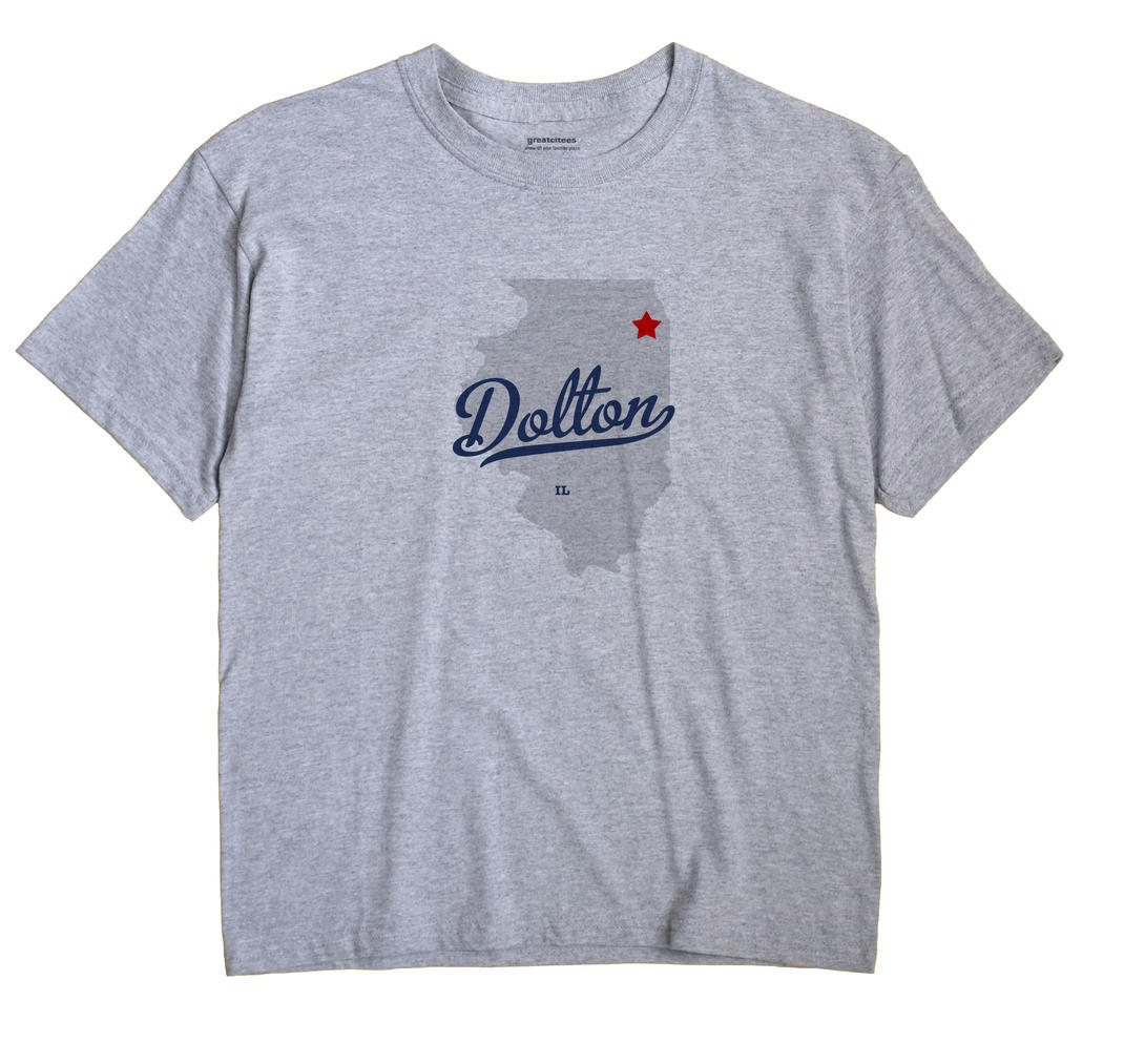 Dolton Illinois IL T Shirt MAP WHITE Hometown Souvenir