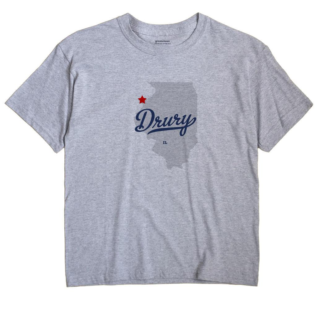 Drury, Illinois IL Souvenir Shirt