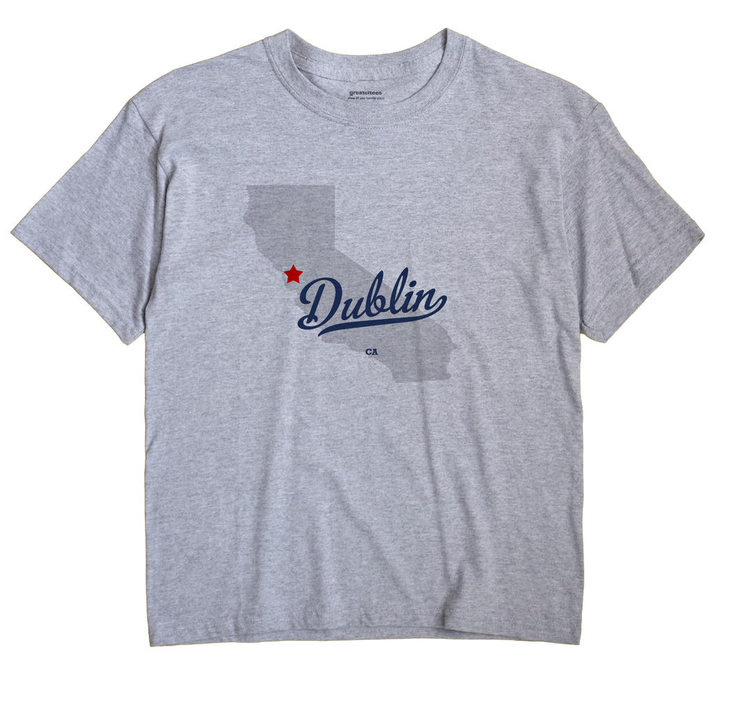 Dublin California CA T Shirt METRO WHITE Hometown Souvenir