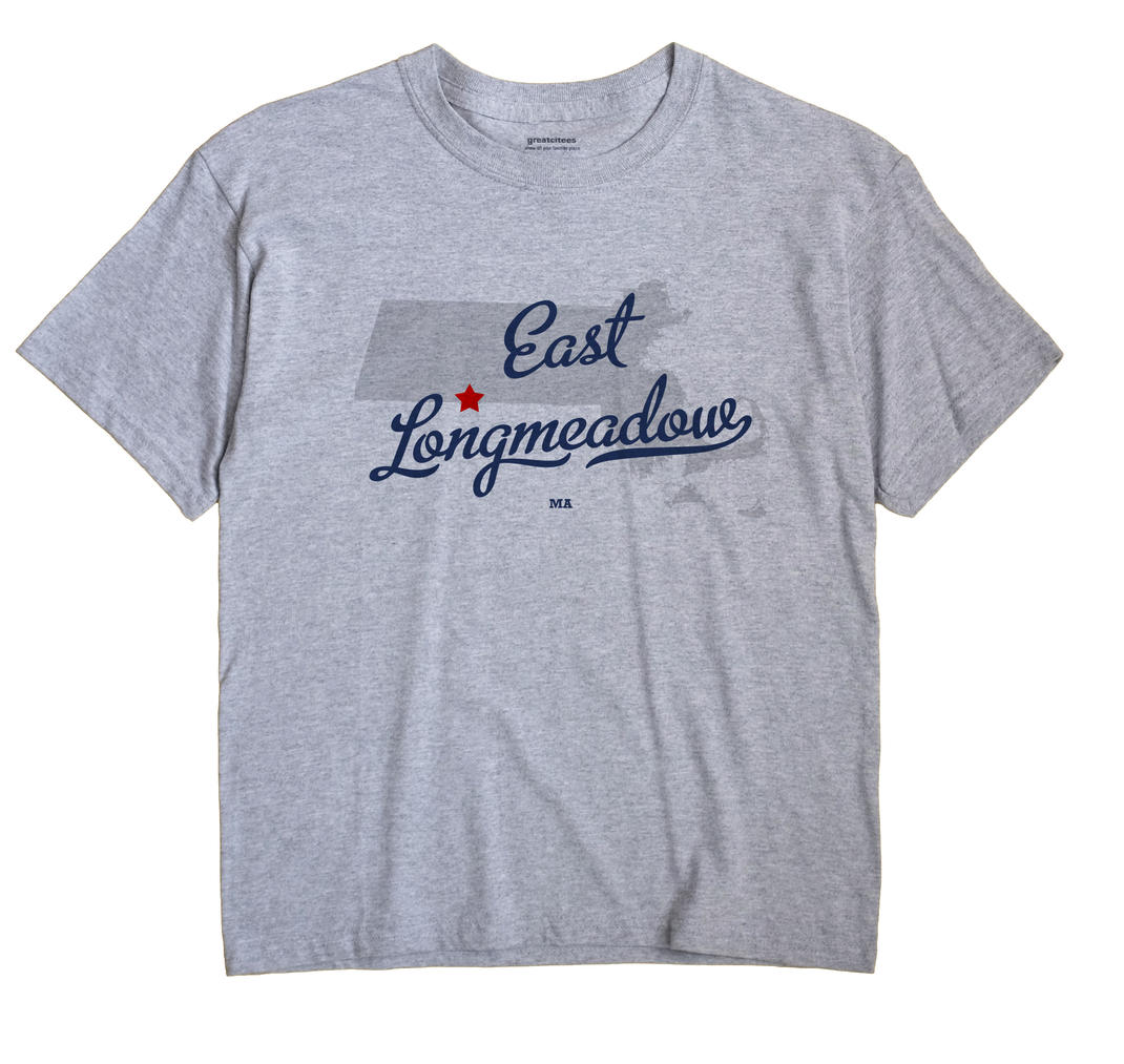 East Longmeadow Massachusetts MA T Shirt METRO WHITE Hometown Souvenir