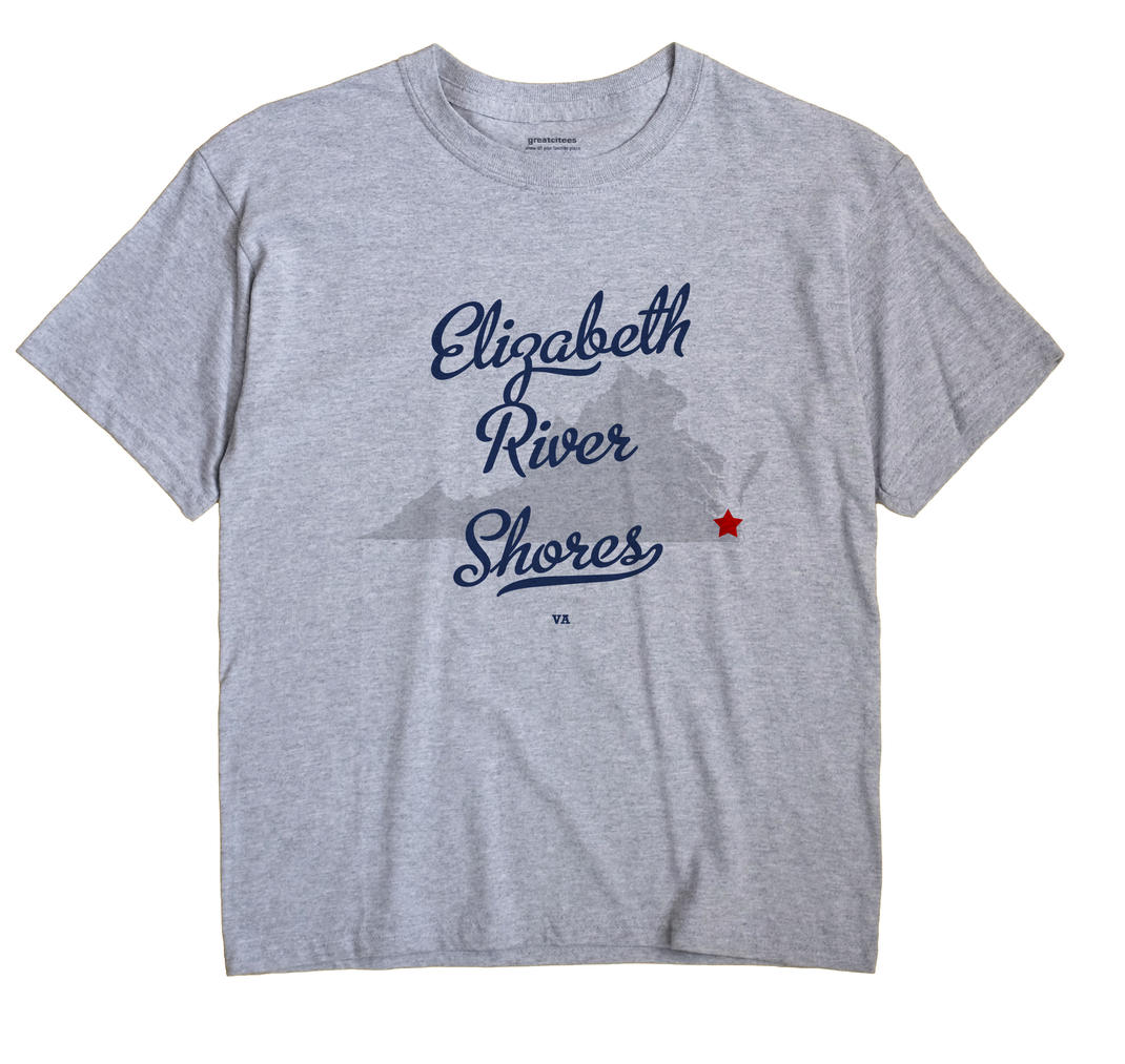 Elizabeth River Shores, Virginia VA Souvenir Shirt