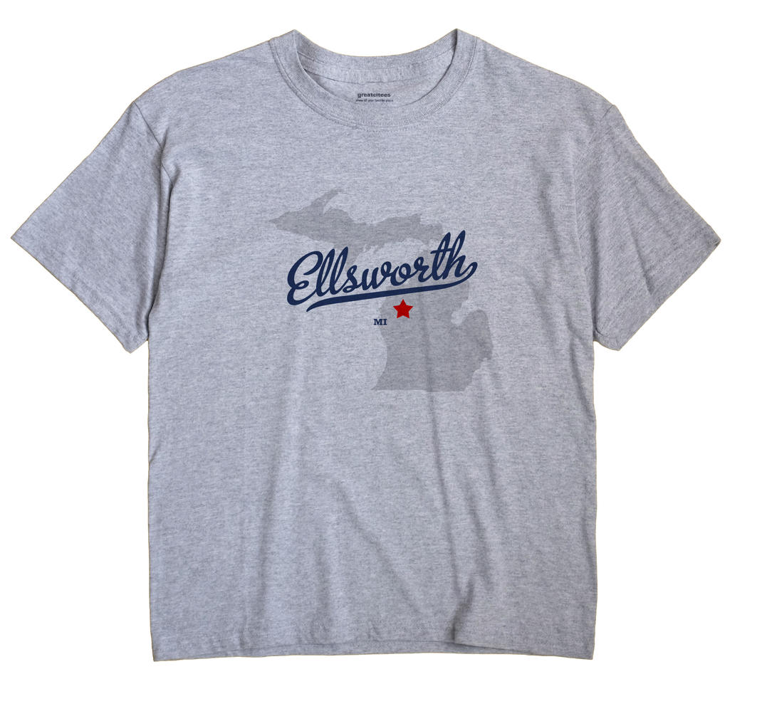 Ellsworth, Lake County, Michigan MI Souvenir Shirt