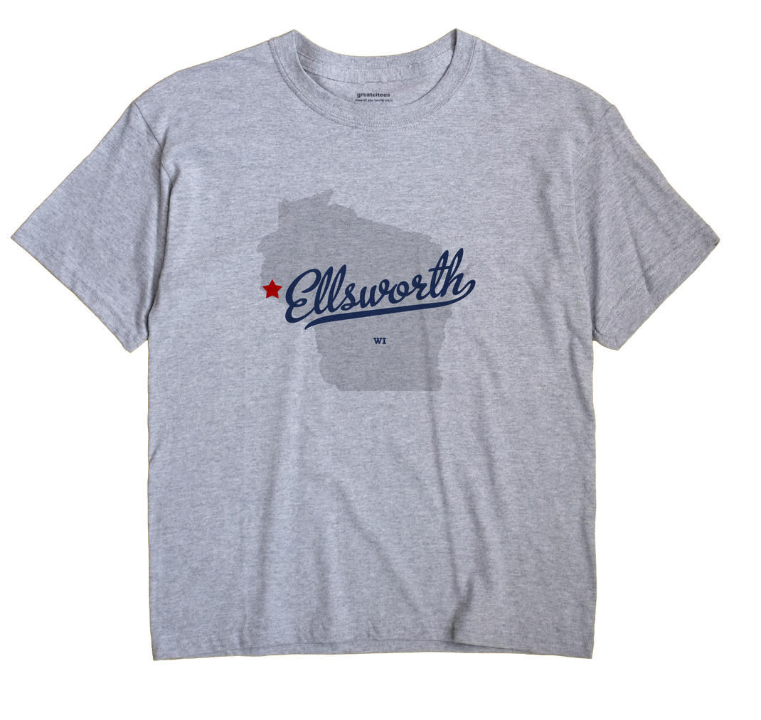 Ellsworth Wisconsin WI T Shirt GOODIES WHITE Hometown Souvenir