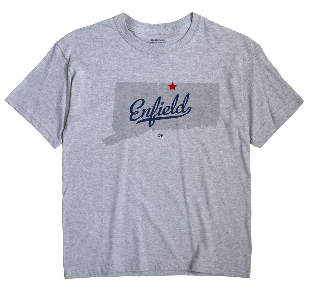 Enfield Connecticut CT T Shirt SIDEWALK WHITE Hometown Souvenir