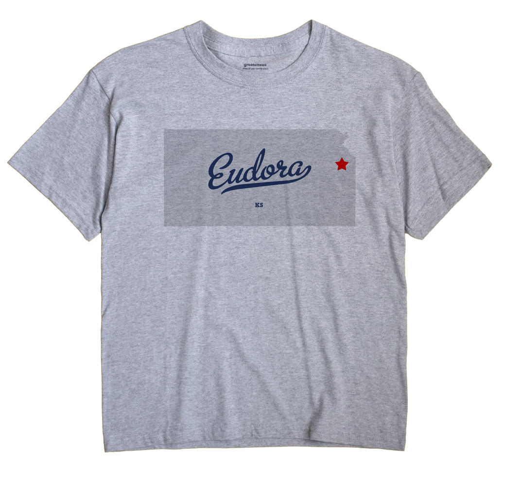 Eudora Kansas KS T Shirt METRO WHITE Hometown Souvenir