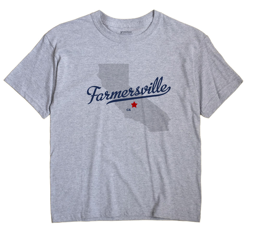 Farmersville California CA T Shirt METRO WHITE Hometown Souvenir