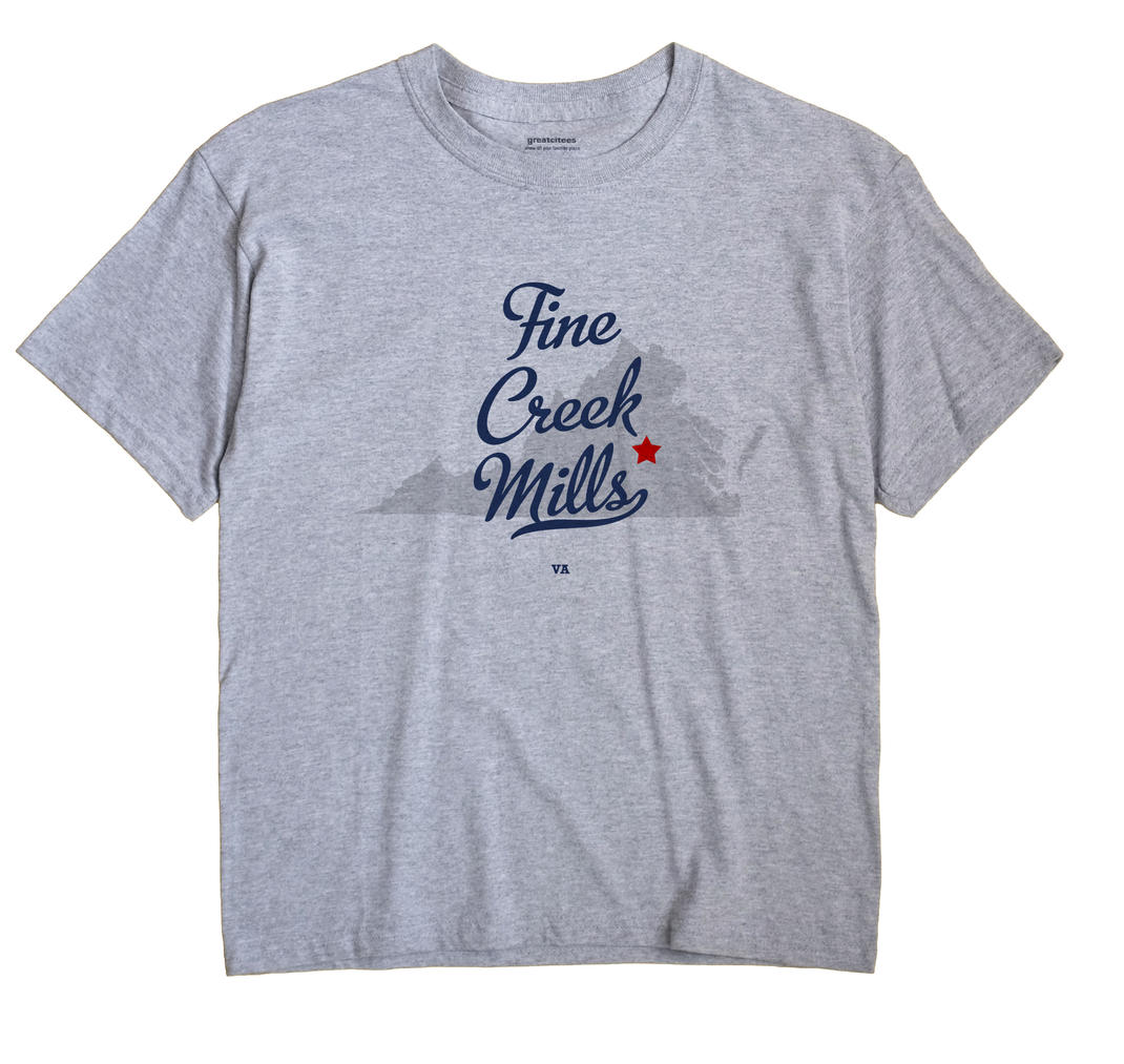 Fine Creek Mills, Virginia VA Souvenir Shirt