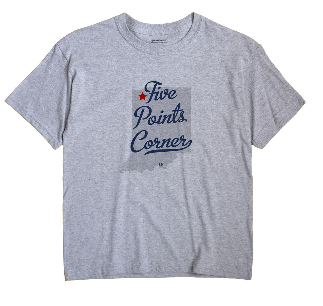 Five Points Corner, Indiana IN Souvenir Shirt