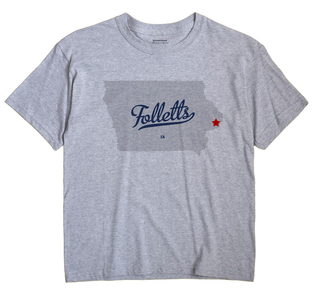 Folletts, Iowa IA Souvenir Shirt