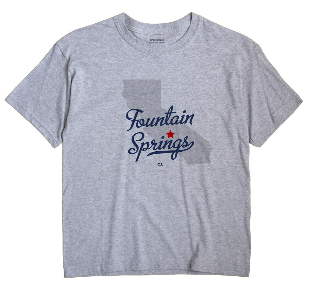 Fountain Springs, California CA Souvenir Shirt
