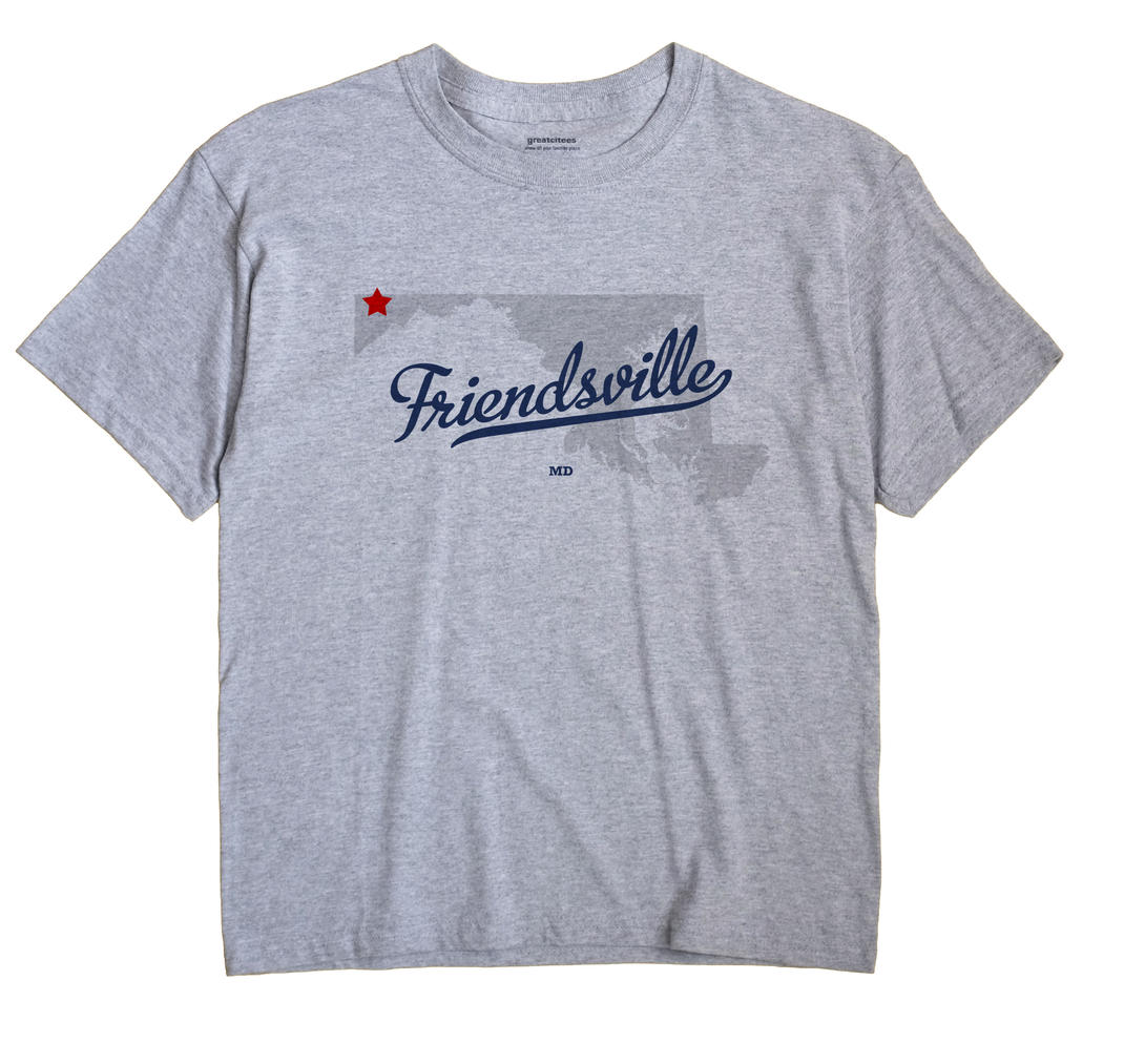 Friendsville, Maryland MD Souvenir Shirt