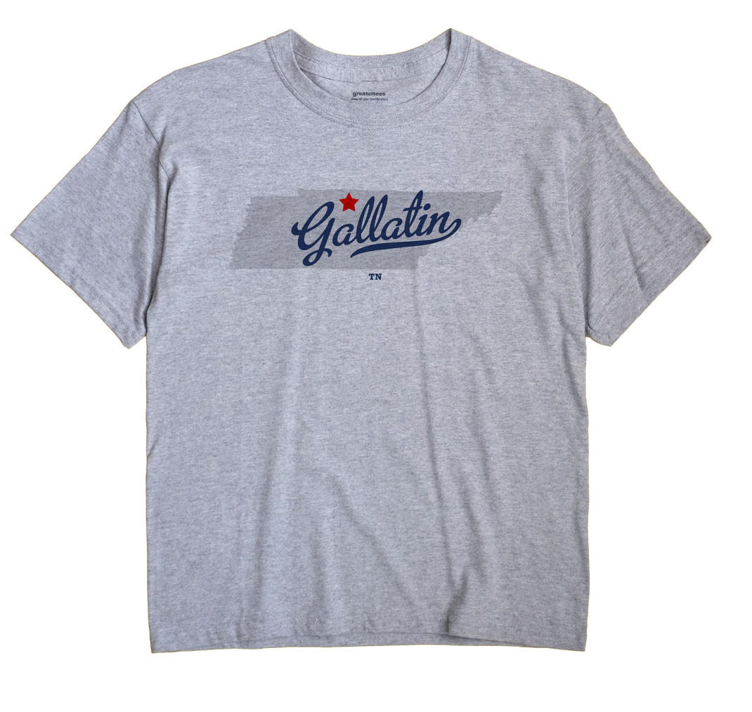 Gallatin Tennessee TN T Shirt METRO WHITE Hometown Souvenir
