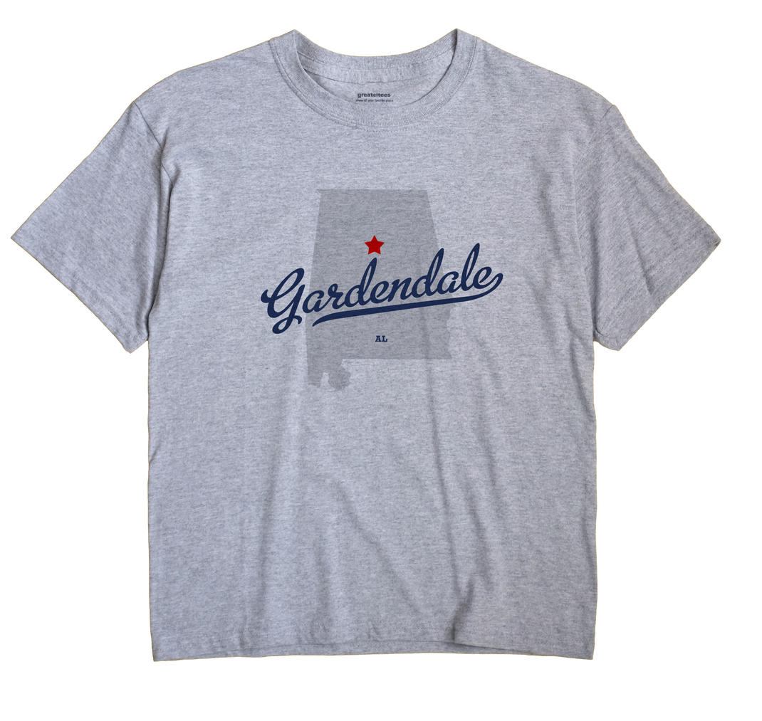 Gardendale Alabama AL T Shirt METRO WHITE Hometown Souvenir