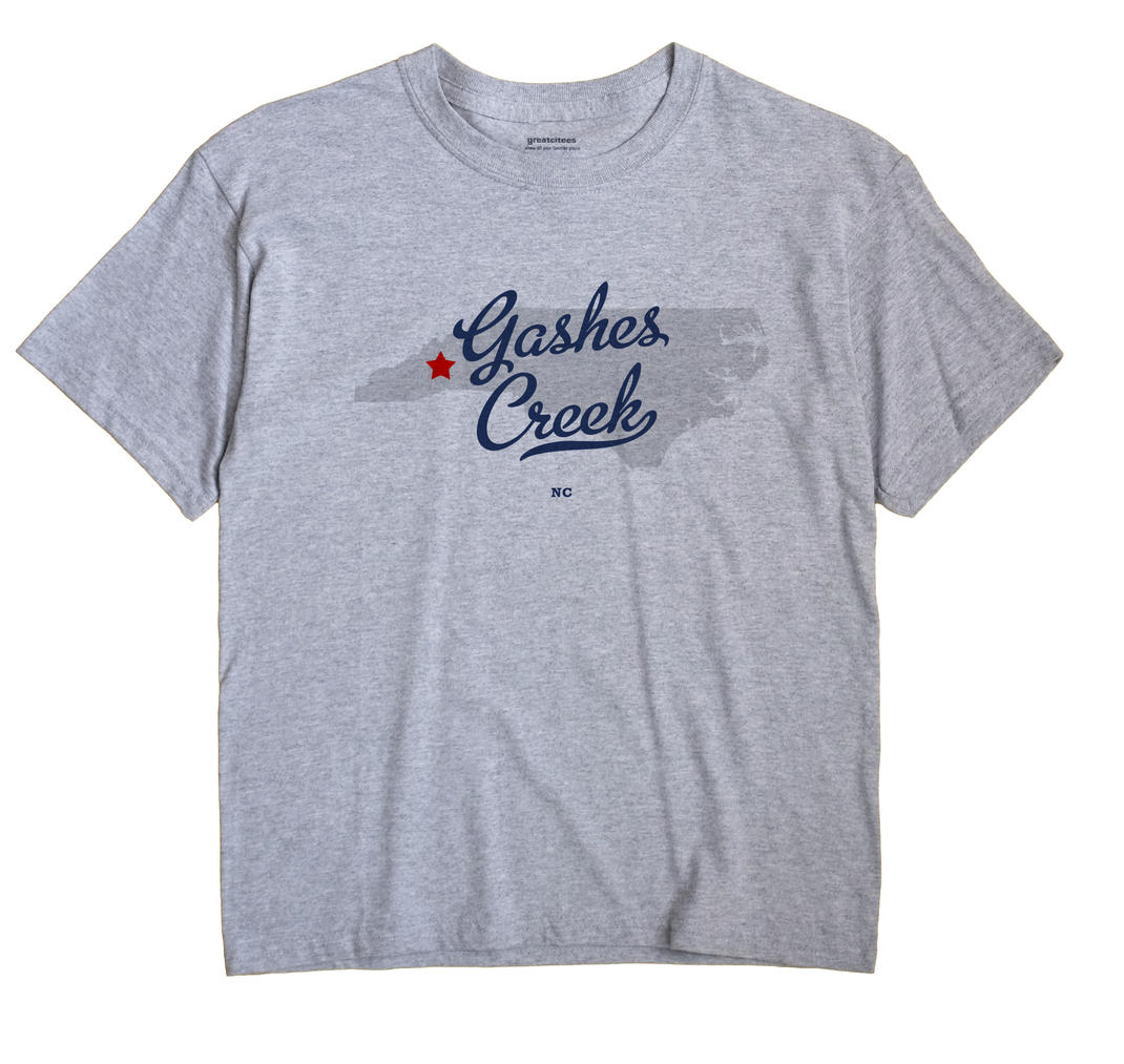 Gashes Creek, North Carolina NC Souvenir Shirt