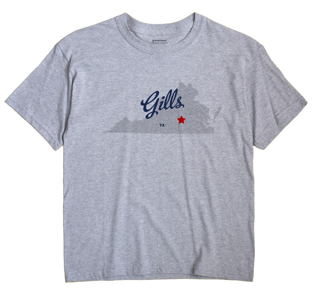 Gills, Virginia VA Souvenir Shirt