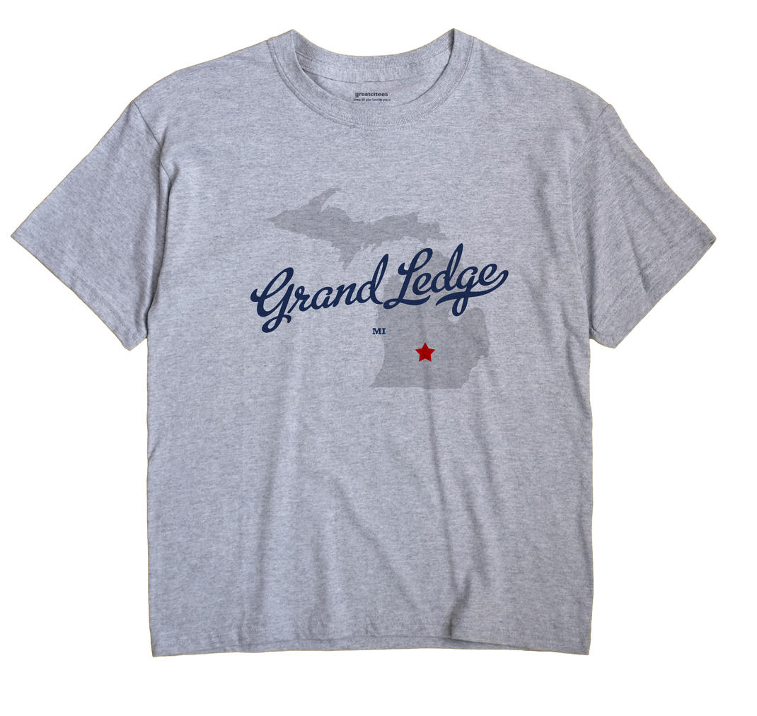 Grand Ledge Michigan MI T Shirt METRO WHITE Hometown Souvenir