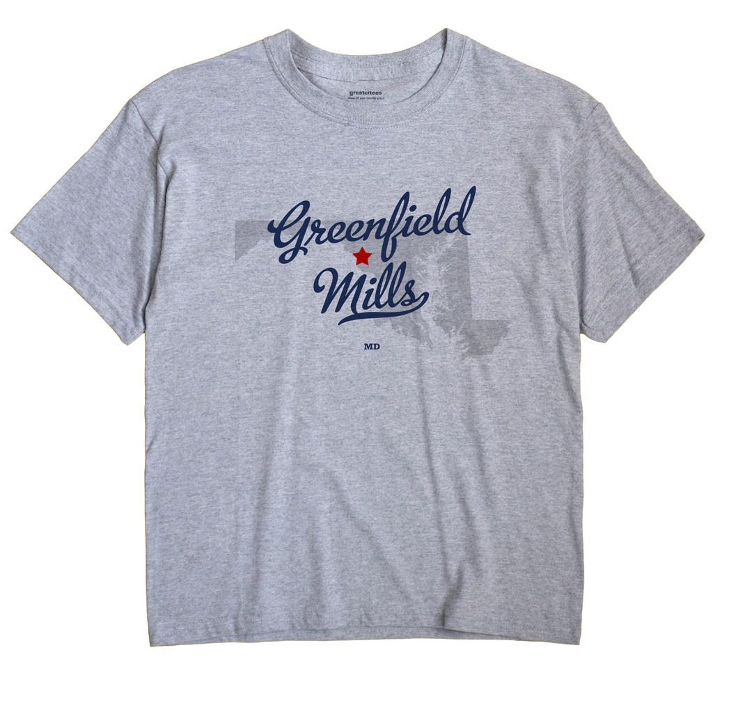 Greenfield Mills, Maryland MD Souvenir Shirt