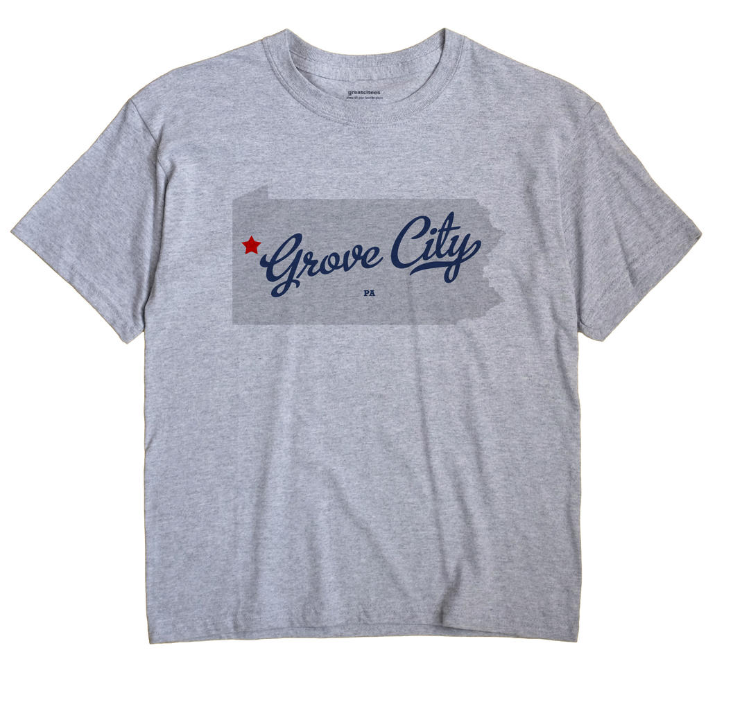 Grove City Pennsylvania PA T Shirt METRO WHITE Hometown Souvenir