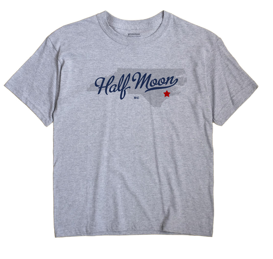 Half Moon North Carolina NC T Shirt METRO WHITE Hometown Souvenir