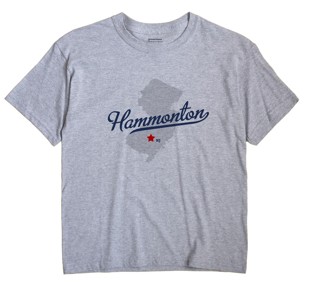 Hammonton New Jersey NJ T Shirt METRO WHITE Hometown Souvenir
