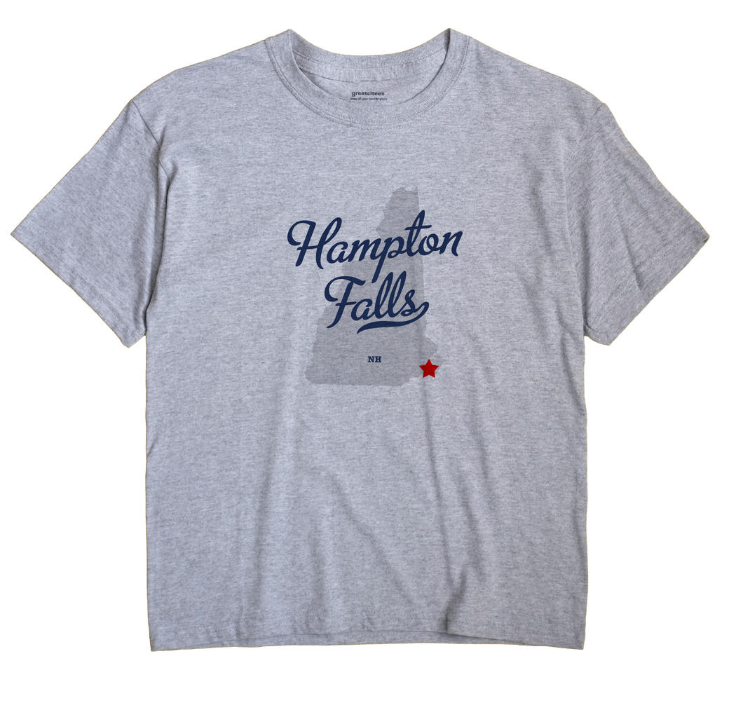 Hampton Falls New Hampshire NH T Shirt METRO WHITE Hometown Souvenir