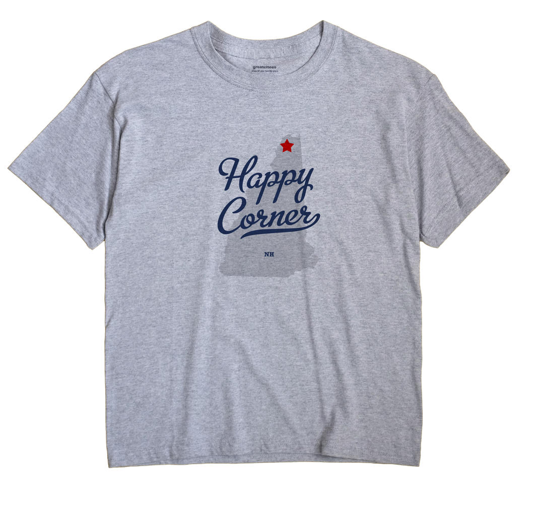 Happy Corner, New Hampshire NH Souvenir Shirt