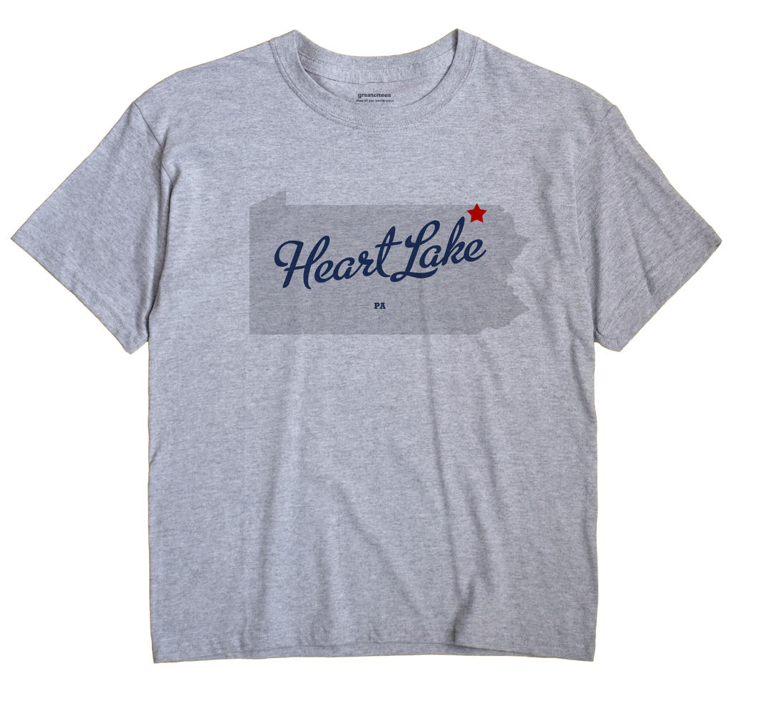 Heart Lake, Pennsylvania PA Souvenir Shirt