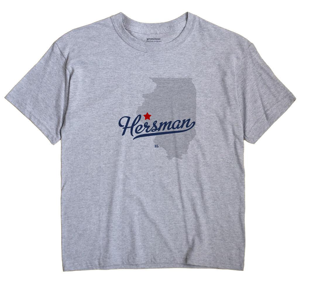 Hersman, Illinois IL Souvenir Shirt