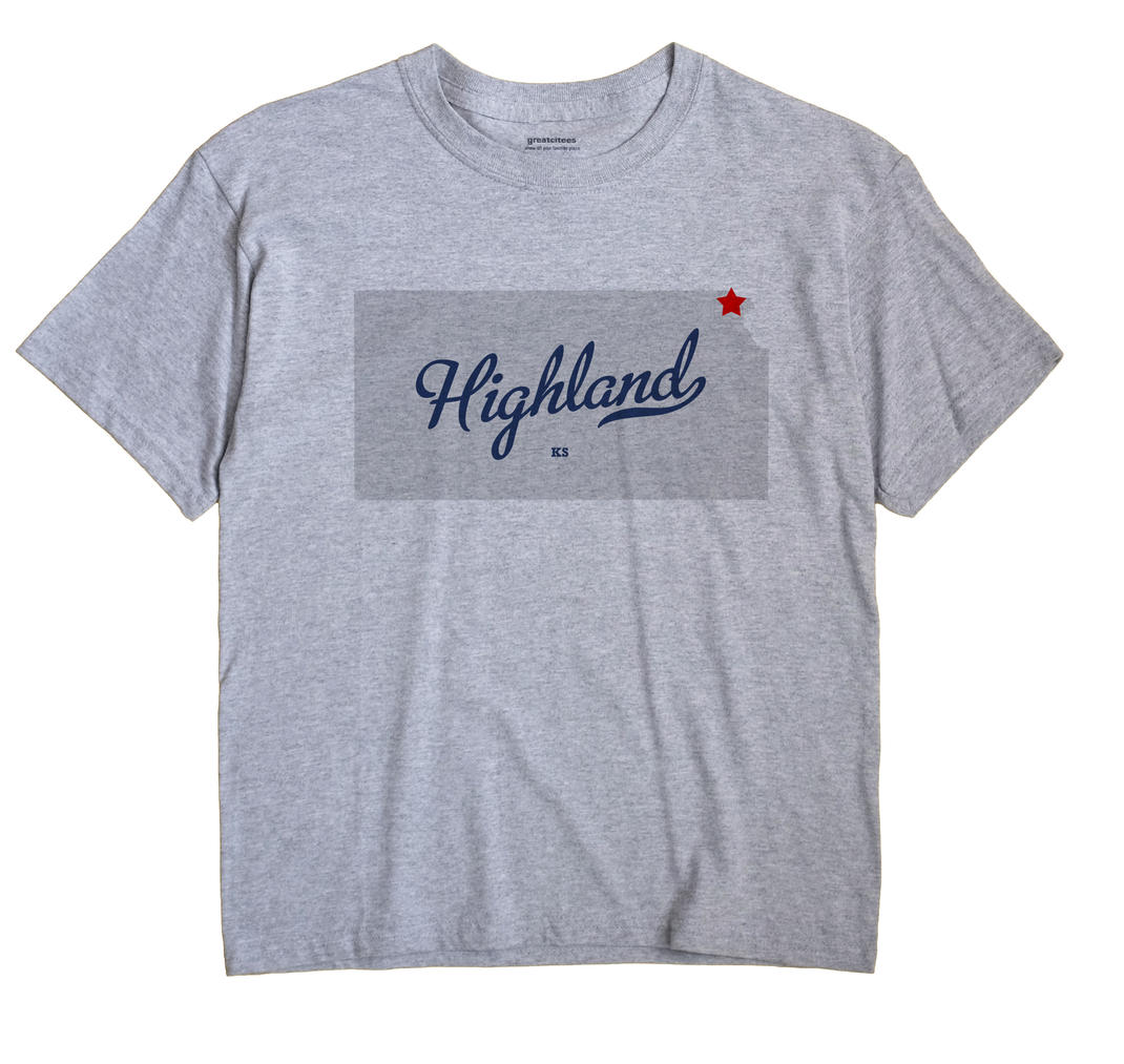 Highland, Doniphan County, Kansas KS Souvenir Shirt