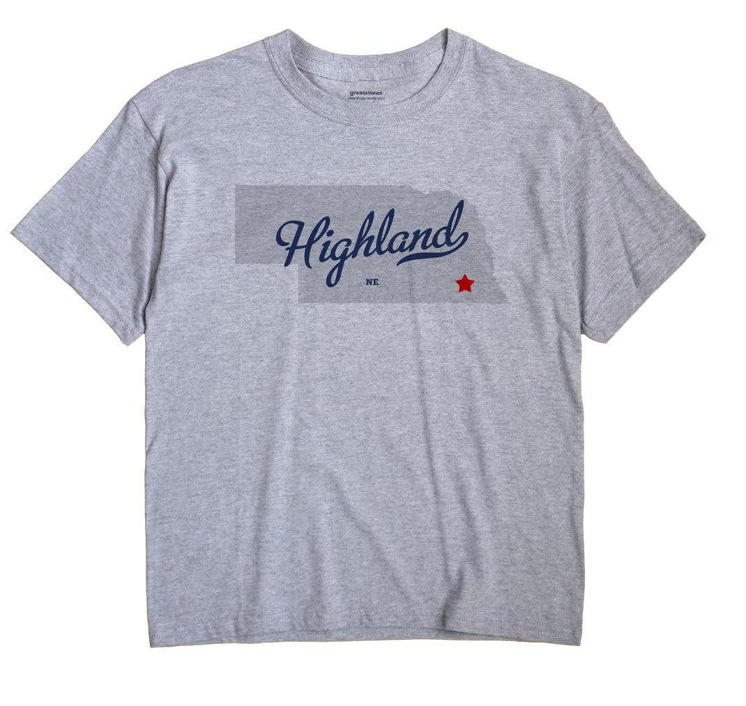 Highland, Gage County, Nebraska NE Souvenir Shirt