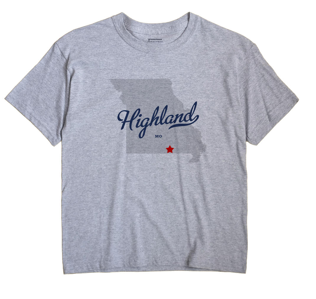 Highland, Oregon County, Missouri MO Souvenir Shirt