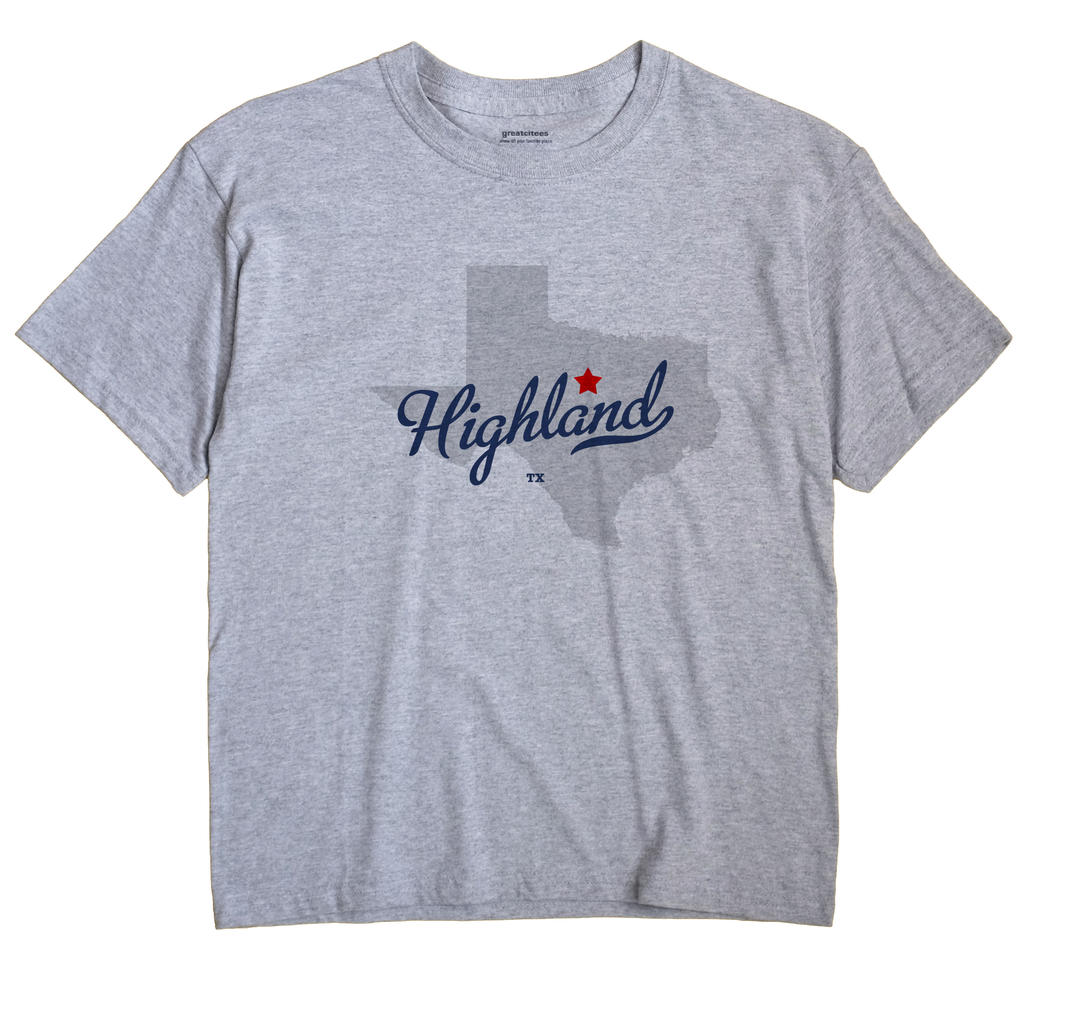 Highland, Texas TX Souvenir Shirt