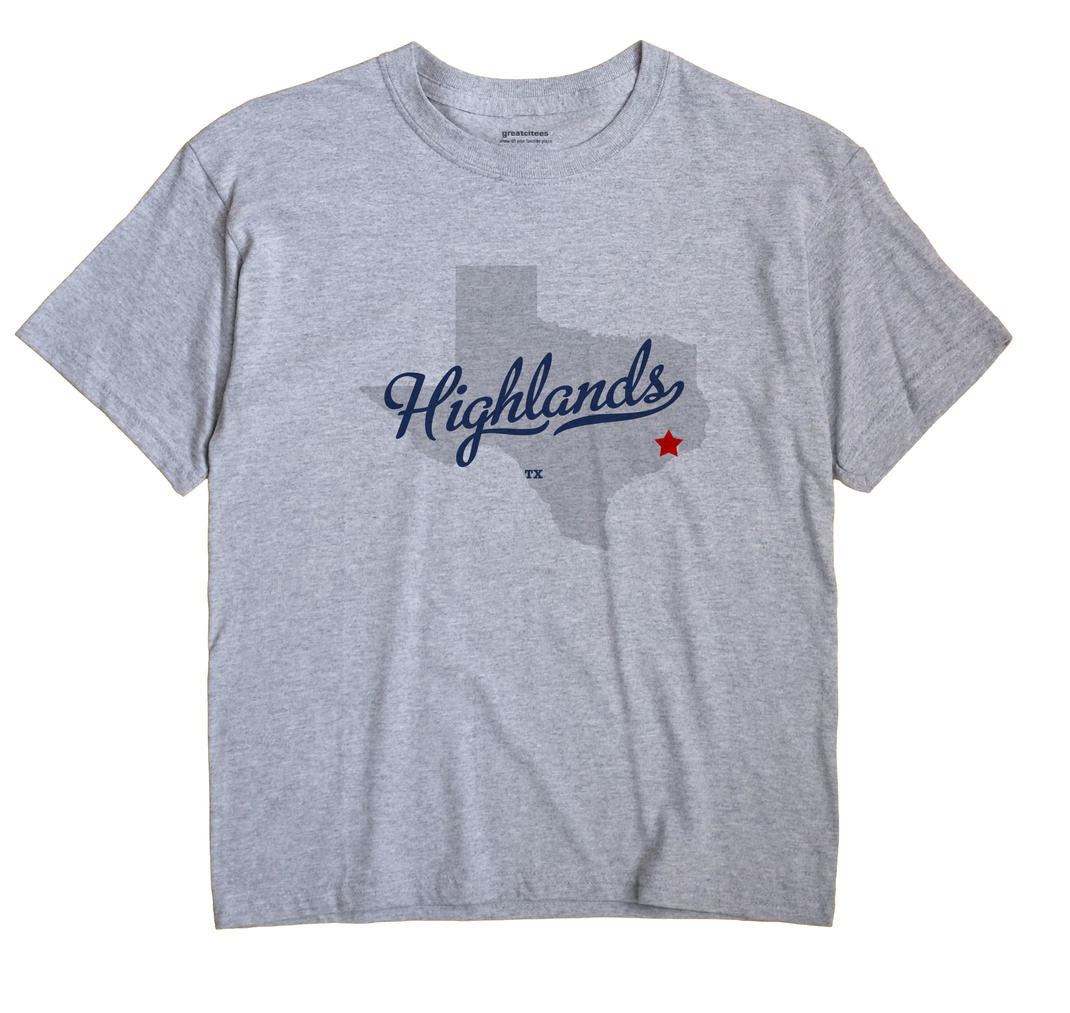 Highlands, Texas TX Souvenir Shirt