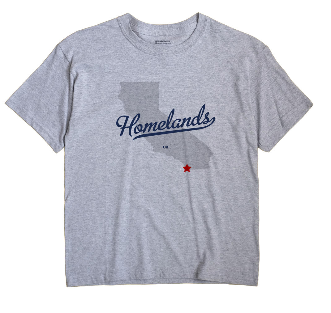 Homelands, California CA Souvenir Shirt