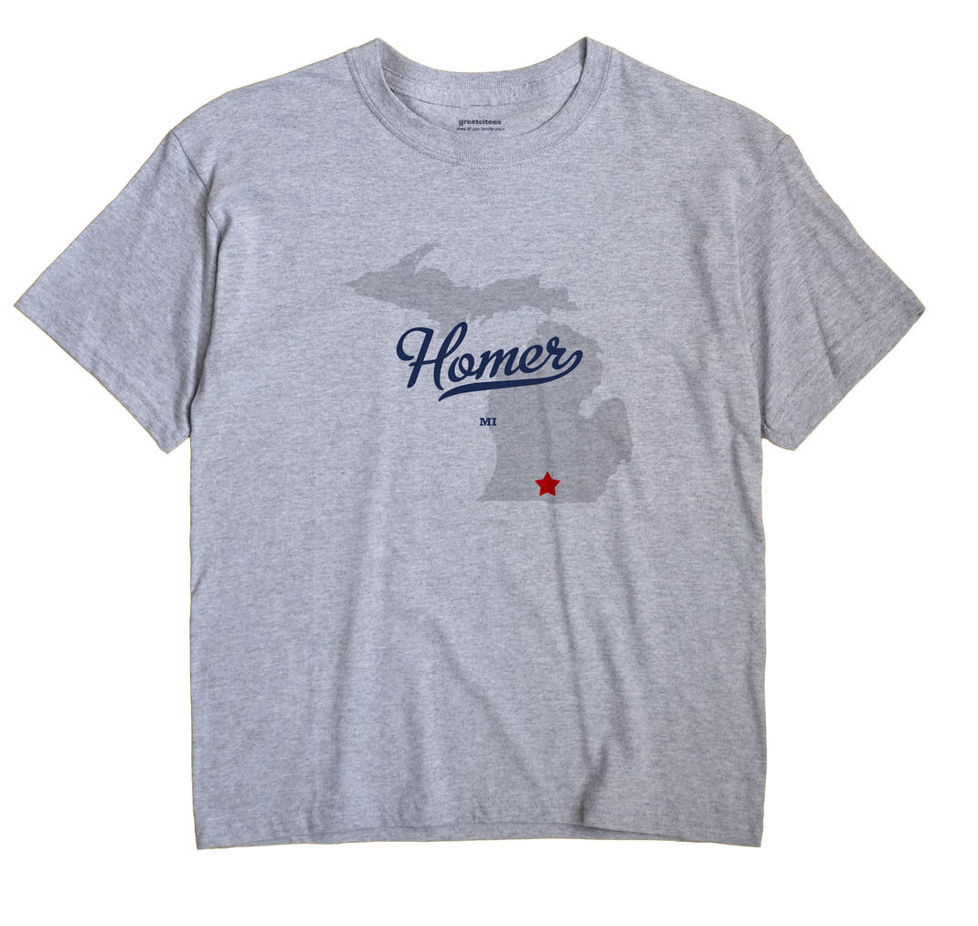 Homer, Calhoun County, Michigan MI Souvenir Shirt